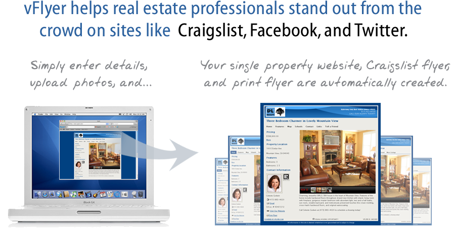 vFlyer helps real estate professionals stand out from the crowd on sites like Craigslist, Facebook, Twitter